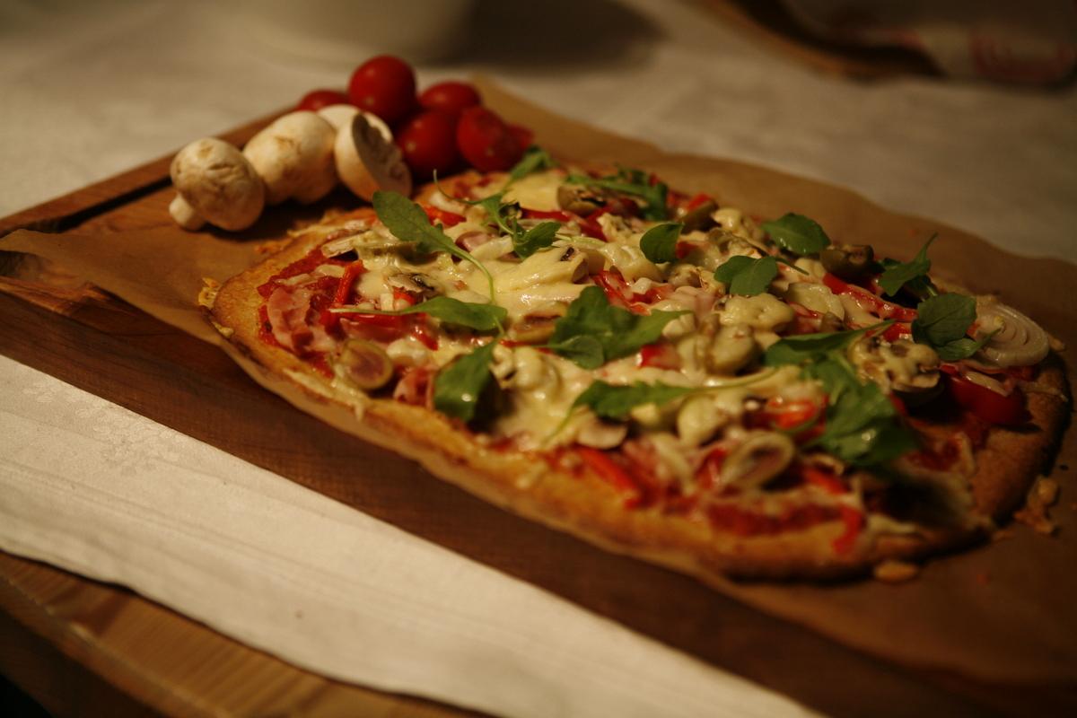 glutenfri pizzadeg med bakpulver